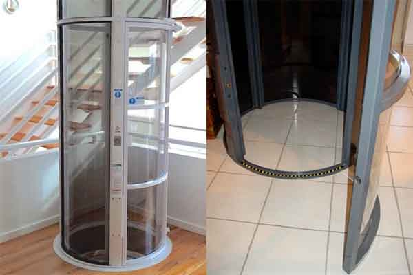 Лифт домашний пневматический в домашнем интерьере