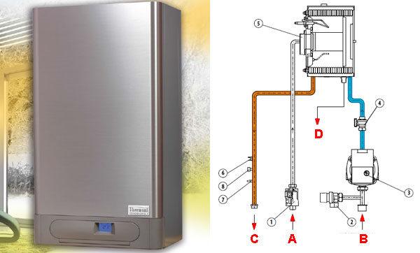 Конденсационный газовый котёл THERM 45 KD.A - схема