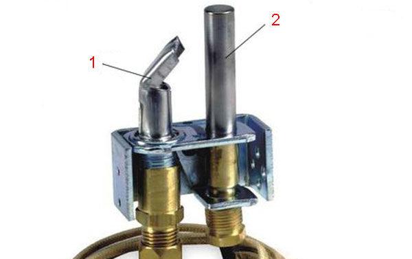 Термопара в конфигурации газовых котлов старого образца