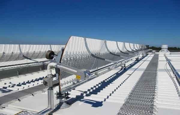 Мощная промышленная установка солнечного охлаждения
