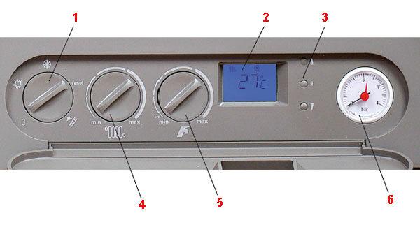 Панель управления газовым котлом THERM 45 KD.A