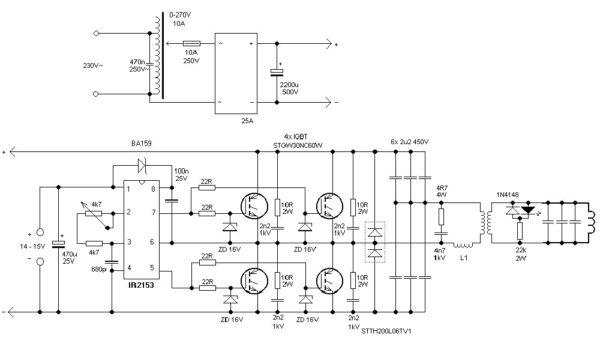 Индукционный нагреватель - схема простой домашней установки