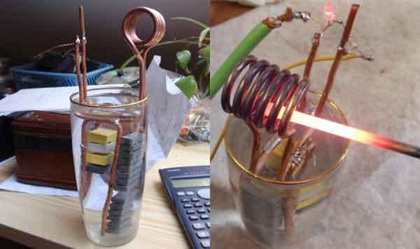 Индукционный нагреватель - экспериментальная конструкция