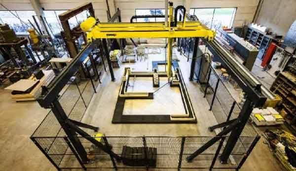 Каркасный бетонный 3D-принтер для строительства зданий
