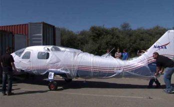 Самолёт электрический модели «X-57 Mod II» доставлен на базу НАСА
