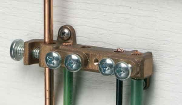Шина проводников заземления внутри электрошита