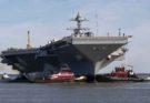 Авианосец «USS Gerald R. Ford» вывели на испытания скоростных поворотов