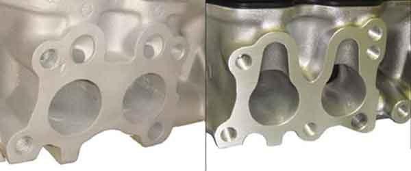Головка цилиндров - распространённые формы выпускных отверстий