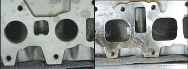 Головки цилиндров двигателей автомобилей и вариации впускных отверстий