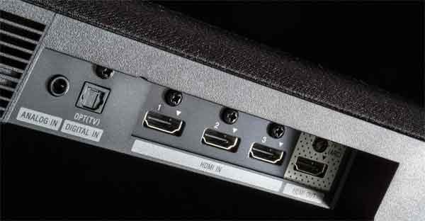 Звуковая панель телевизора - интерфейсное портовое разнообразие