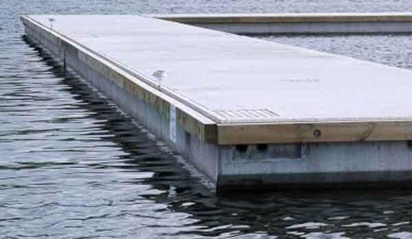 Гидротехническое сооружение на основе пуццоланового портландцемента