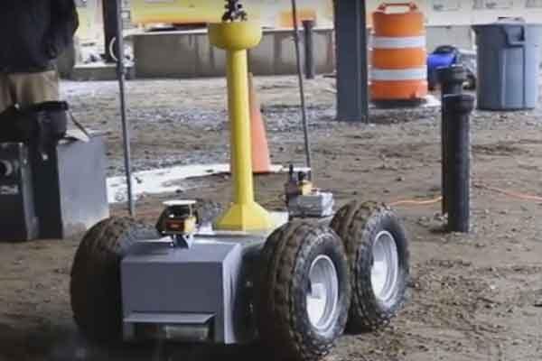 Робот лазерного сканирования и планирования компоновки на стройплощадку