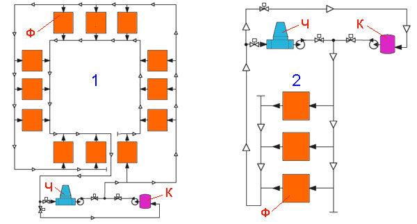 Фанкойл - реверсивная двухтрубная схема