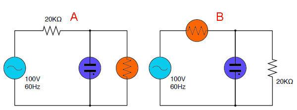 Позистор в схеме индикации на неоновой лампе