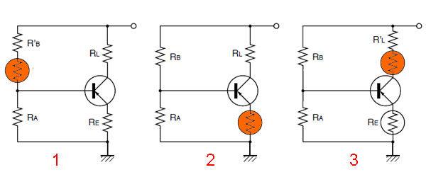 Позистор - схемы температурной компенсации
