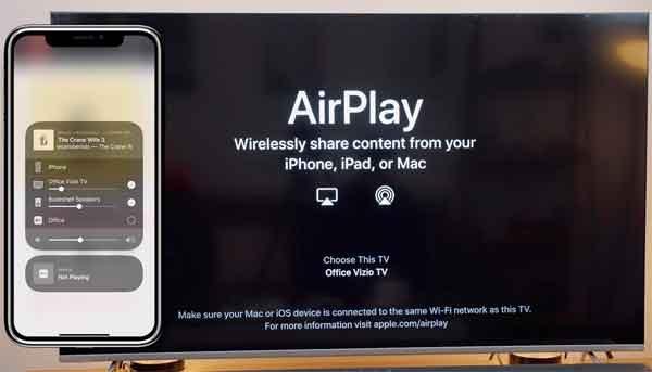 Подключение смартфона к телевизору через Apple AirPlay