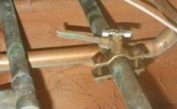 Простые способы ремонта медных труб водопроводной домашней сети