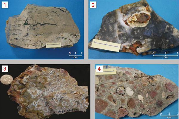 Песчаник в составе образцов горных пород