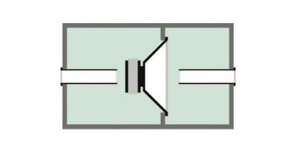 Сабвуфер - конструкция по принципу двухстороннего полосового фильтра