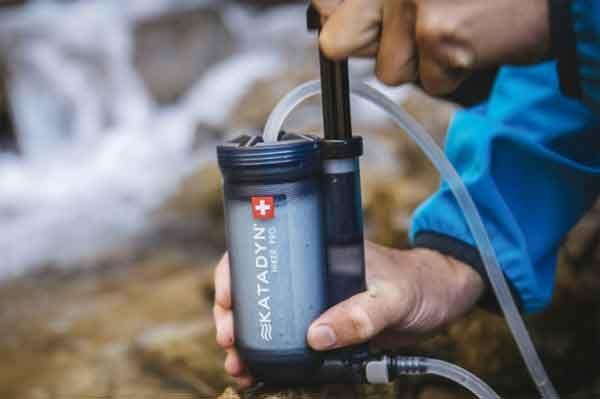 Фильтры воды - конструкция системы Katadyn Hiker