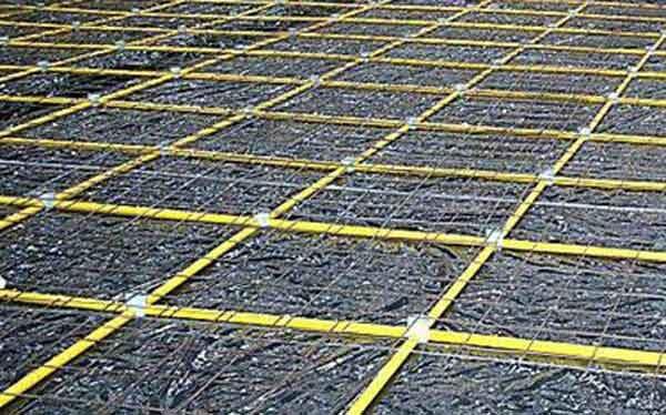 Растрескивание бетона и схема формирования квадратов