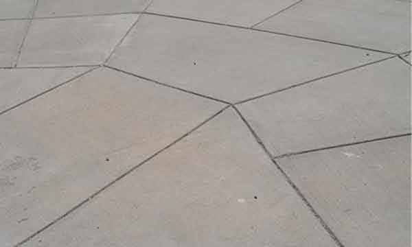 Растрескивание бетона - усадочные швы разного типа