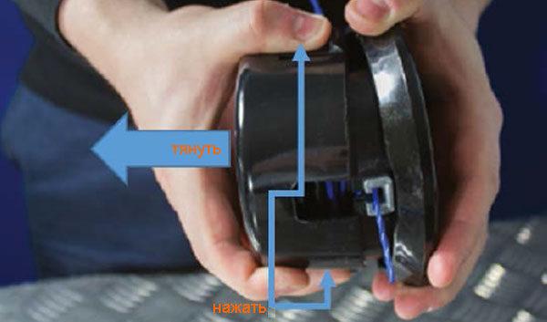 Триммер газонный (садовый) - как разобрать ударную головку?