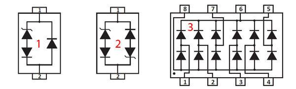 Супрессорный диод - исполнение электронных приборов
