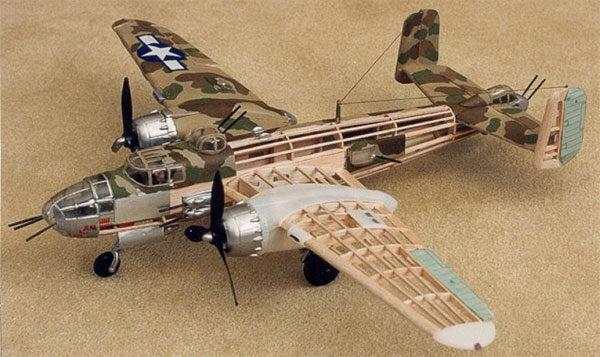 Бальсовое дерево в моделизме - модель самолёта