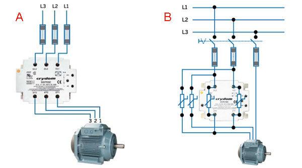 Как подобрать ТТР для трёхфазного мотора - схемы подключения
