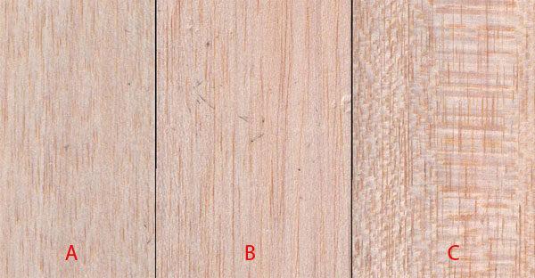 Бальсовое дерево - структура материала по видам